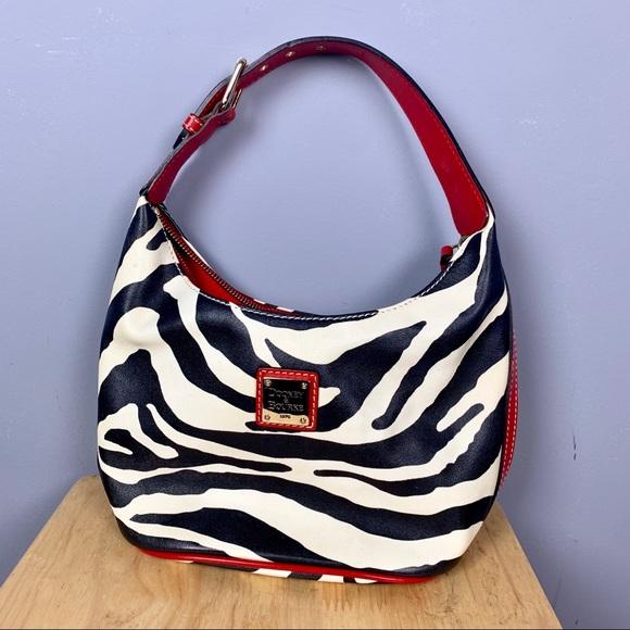 Dooney & Bourke Handbags - Dooney & Bourke Zebra Red Leather Purse